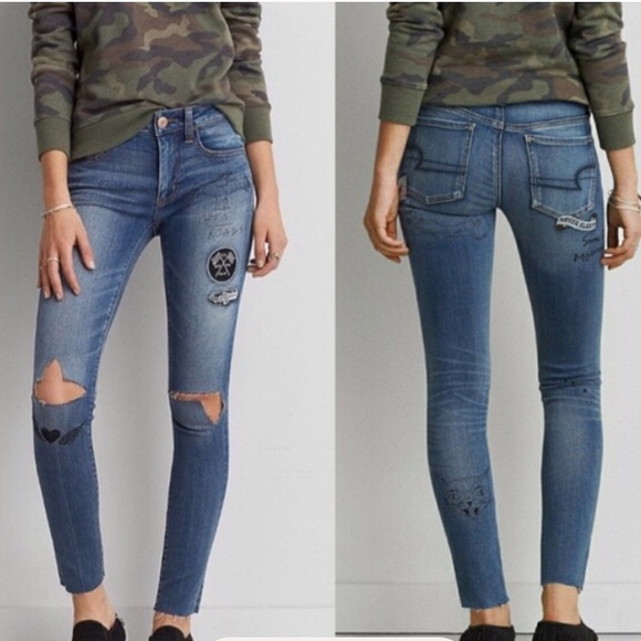American Eagle Outfitters Denim - American eagle Denim distressed jeggings